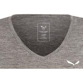 SALEWA Puez 2 Dry Camiseta Manga Corta Mujer, black out melange